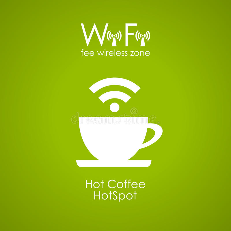 Internet-Caféplakat stock abbildung