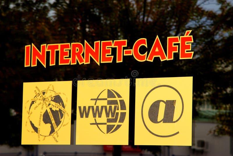 Internet Cafe. WETZLAR, GERMANY SEPTEMBER, 2016: Adhesive Label from INTERNET CAFE in WETZLAR, GERMANY royalty free stock photo
