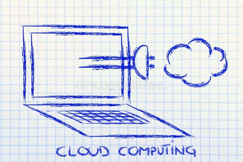 Internet, calcul de nuage et transfert des données photo libre de droits