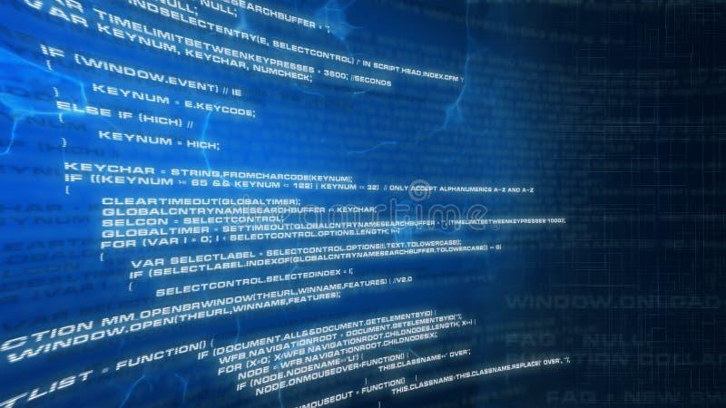 Internet code. Downloading internet code. Blue background vector illustration