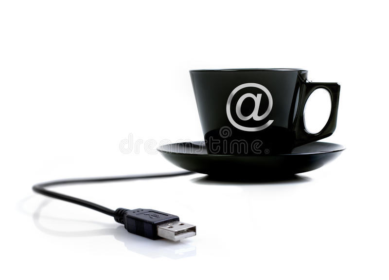 Internet coffee. Conceptual background work - Internet coffee