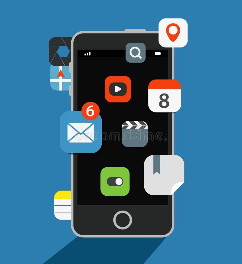 Internet commerce illustration. Flat design concept stock illustration