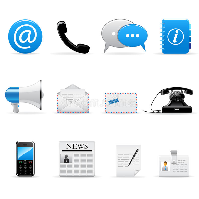 Download Internet Communication Icons Stock Vector - Image: 13185119