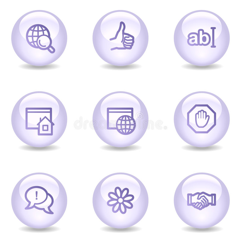 Download Internet Communication Web Icons, Pearl Series Stock Vector - Image: 8545677