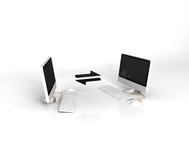 Internet - computadores de comunicação ilustração do vetor