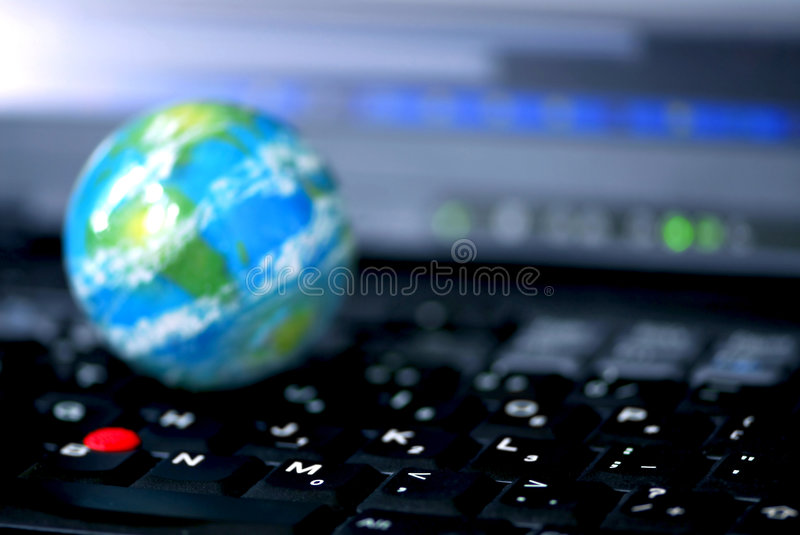 Internet computer business global royalty free stock photography