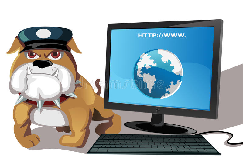 Internet or computer security. A vector illustration of internet or computer security concept vector illustration