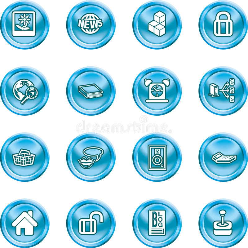 Internet and Computing Media I stock illustration