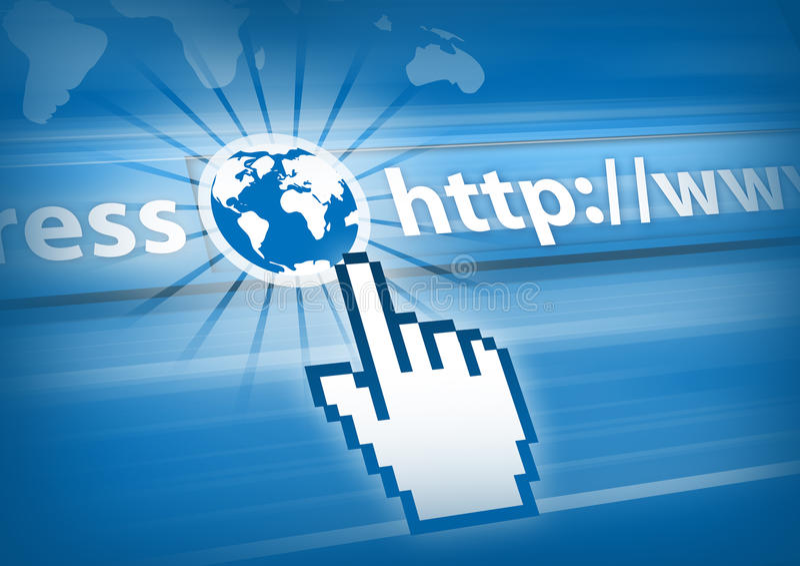 Internet Concept. World of Internet communication royalty free illustration