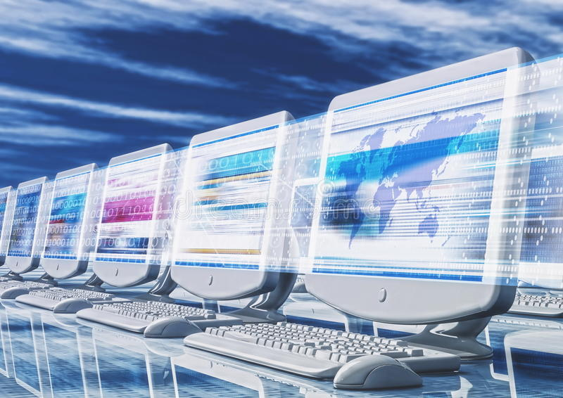 Download Internet Concept stock illustration. Image of globe, fast - 12033814