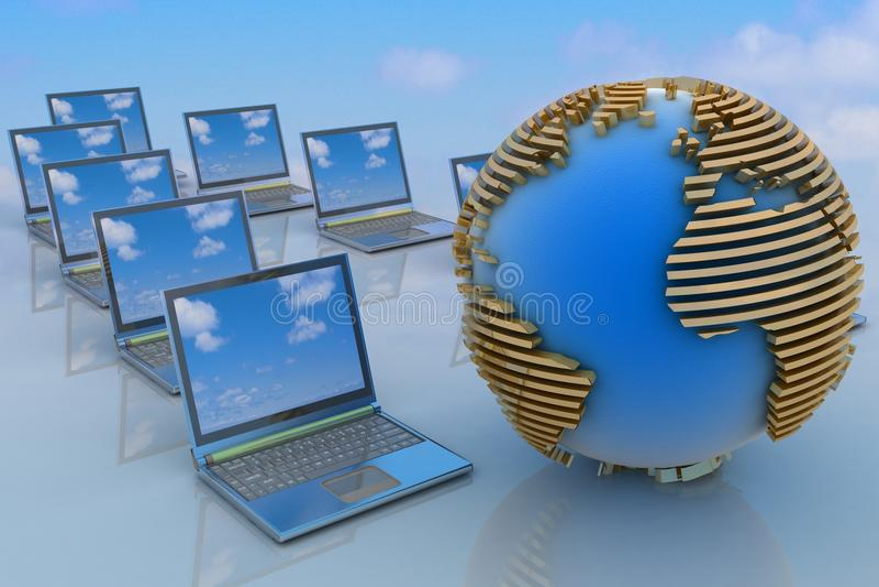 Download Internet Concept stock illustration. Image of commerce - 24227029