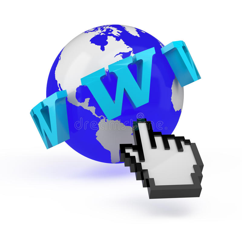 Internet-concept stock illustratie