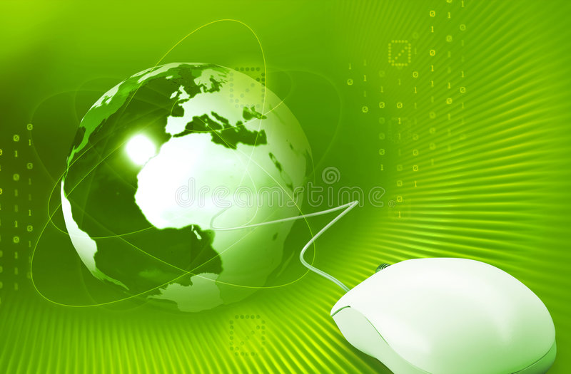 Internet concept. On green background
