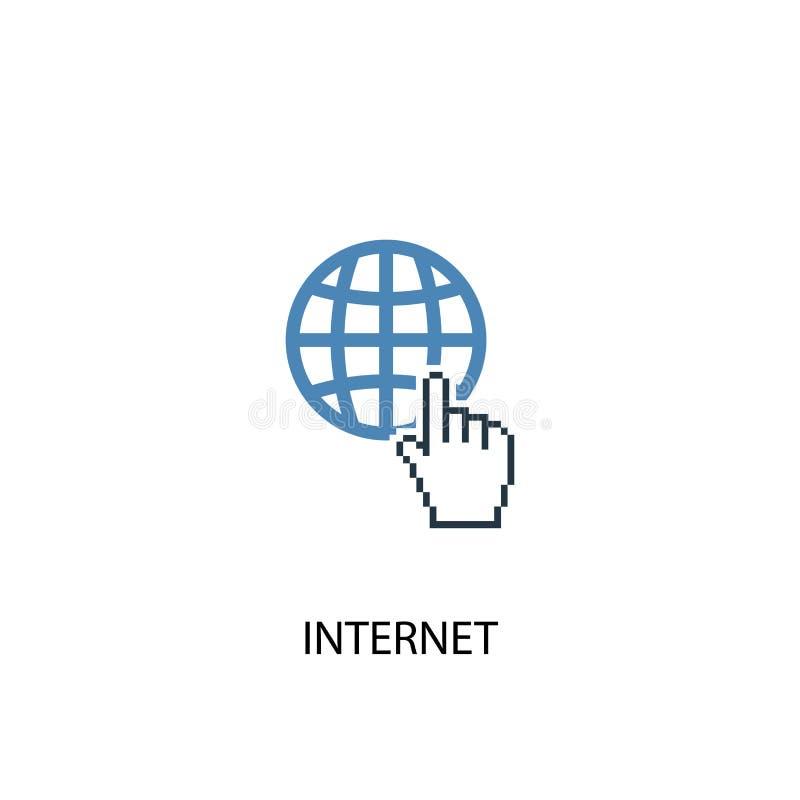 Internet concept 2 colored icon. Simple. Blue element illustration. internet concept symbol design royalty free illustration