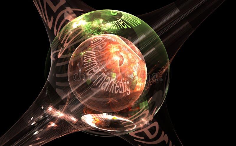 Internet-concept - marketing, digitaal beeld van kleurrijke lichte en abstracte vormen vector illustratie