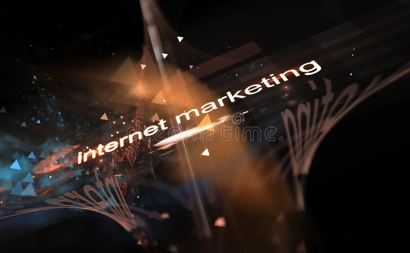 Internet concept - marketing, digitally image of colorful light and abstract shapes. Illustration vector illustration
