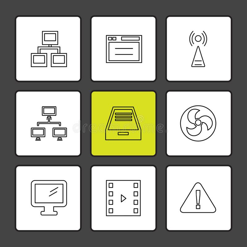 Internet , connecetivity , network , equlilizer , eps icons set. Internet , connecetivity , network , equlilizer , battery , cell , wifi , sim , microphone vector illustration