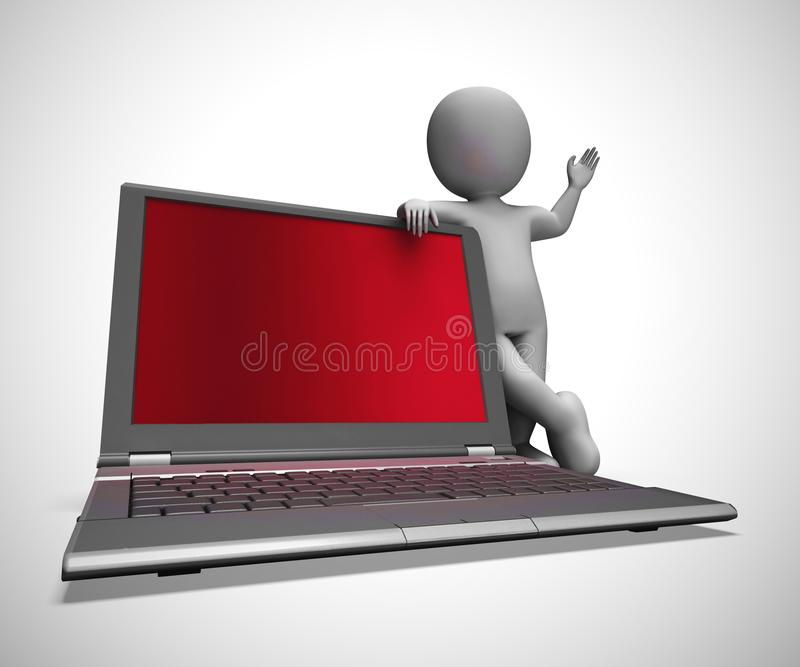 Internet connection means web accessibility and online connection - 3d illustration stock illustration