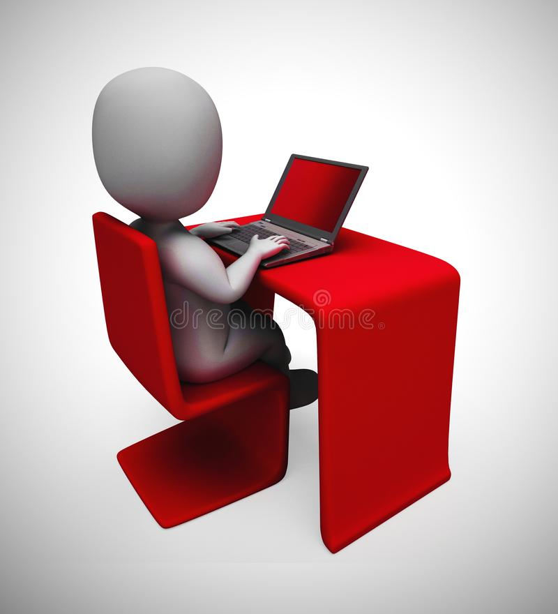 Internet connection means web accessibility and online connection - 3d illustration royalty free illustration