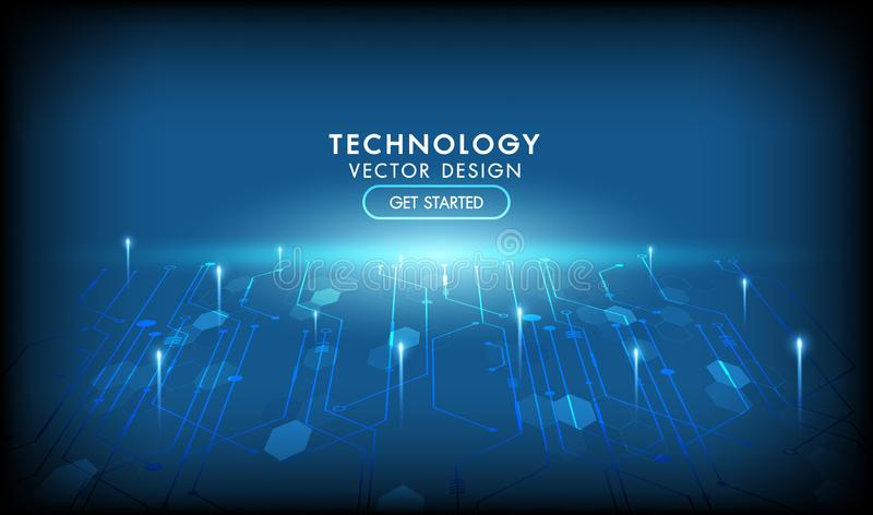 Internet connection networking vector abstract futuristic background.Illustration high computer technology dark blue color vector illustration