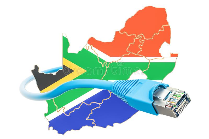 Internet connection in South Africa concept. 3D rendering royalty free illustration