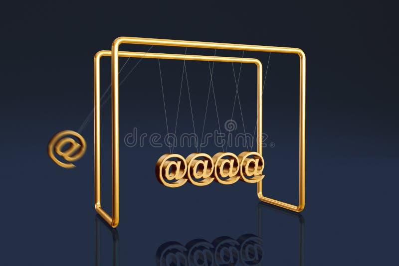 Internet cradle stock illustration