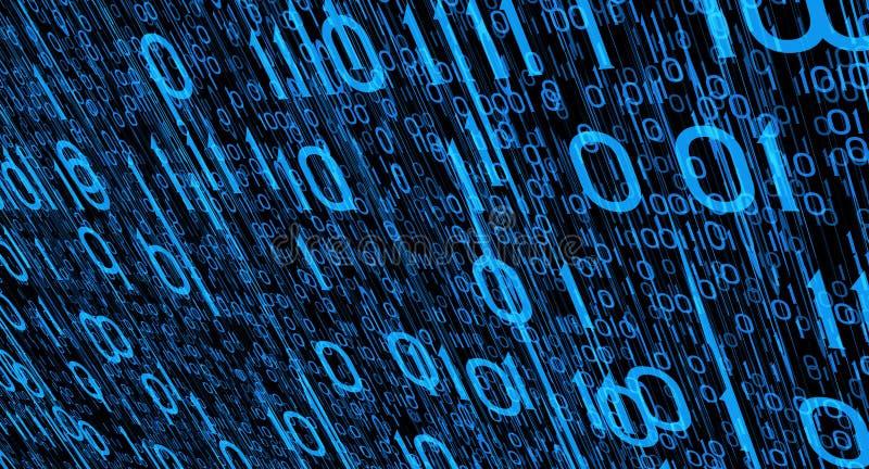 Internet crime. Computer binary code abstract background stock photos