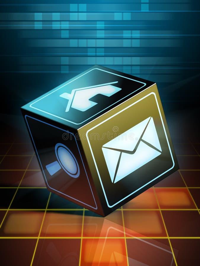 Internet cube vector illustration