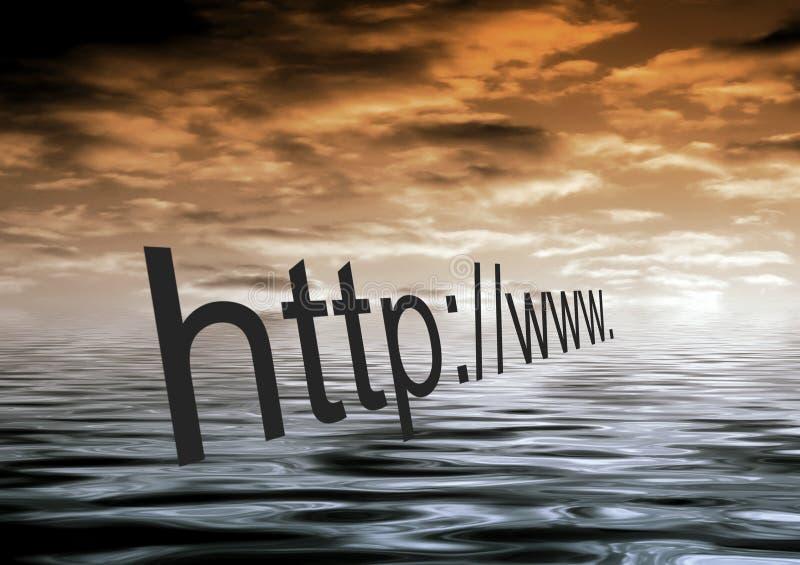 Internet-Dämmerung lizenzfreie abbildung