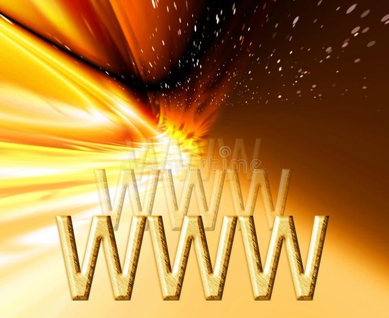 Internet d'or illustration libre de droits