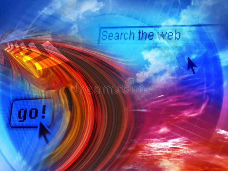 Internet da busca ilustração stock