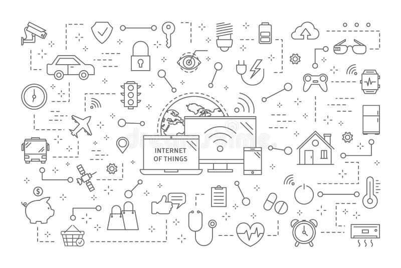 Internet das coisas ilustração do vetor