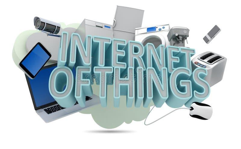 Internet das coisas ilustração royalty free