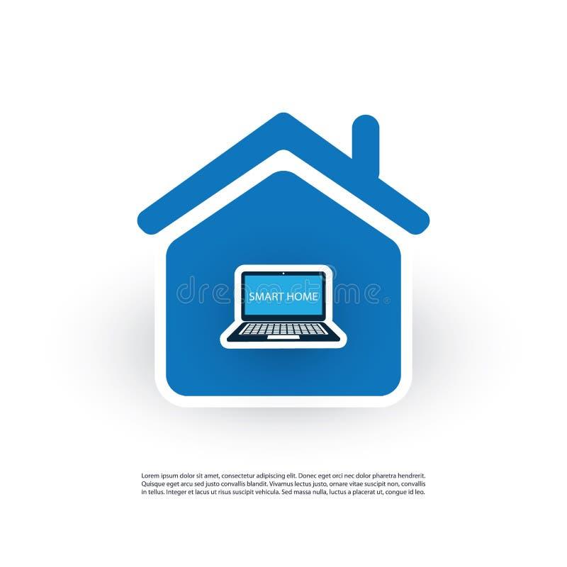 Internet das coisas, da casa de Digitas e do conceito de projeto das redes ilustração do vetor