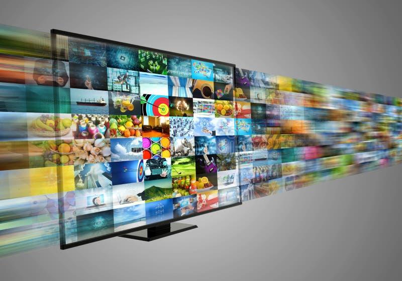 Internet, das Multimediaunterhaltung Breitband- und geströmt worden sein würden vektor abbildung