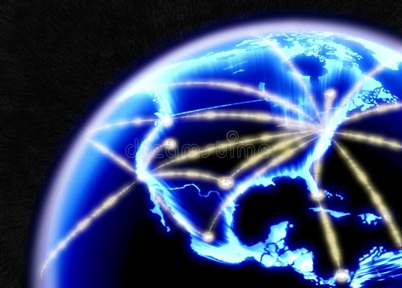Internet das telecomunicações ilustração royalty free
