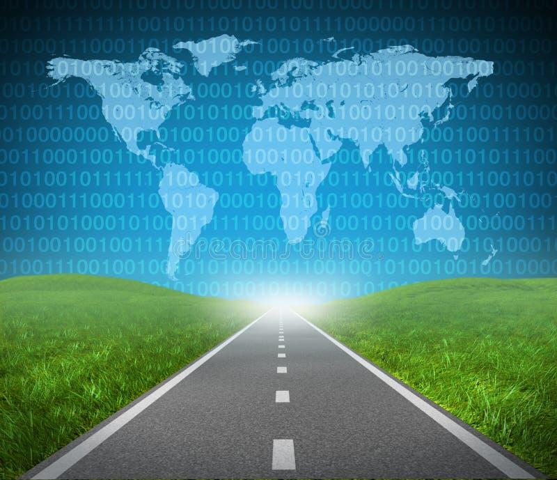 Internet-Datenbahn lizenzfreie abbildung