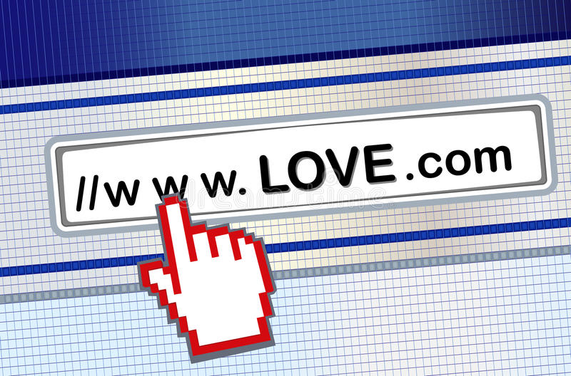 Internet dating. Searching for love on the internet. Vector file saved as EPS AI8 also available stock illustration