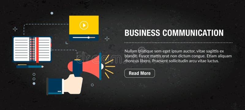 Internet de bannière de communication d'affaires avec des icônes dans le vecteur illustration stock