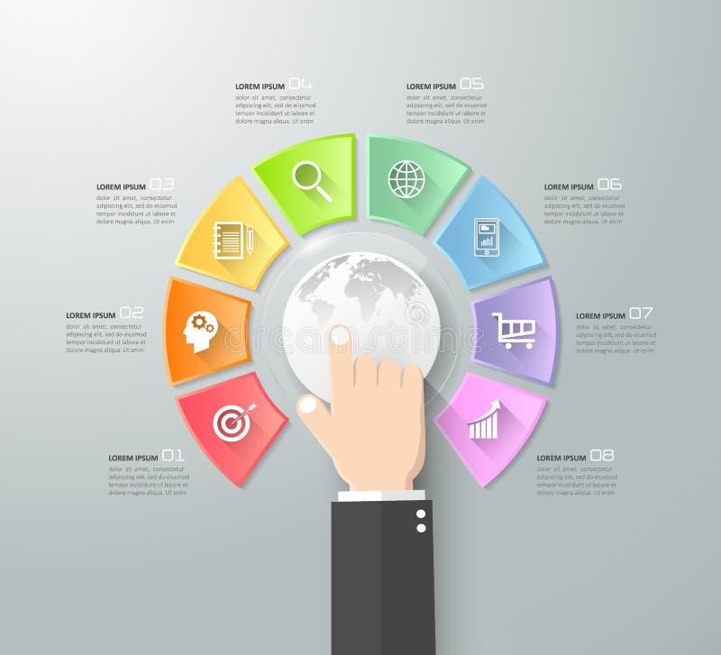 Internet de conception de concept de choses infographic illustration stock