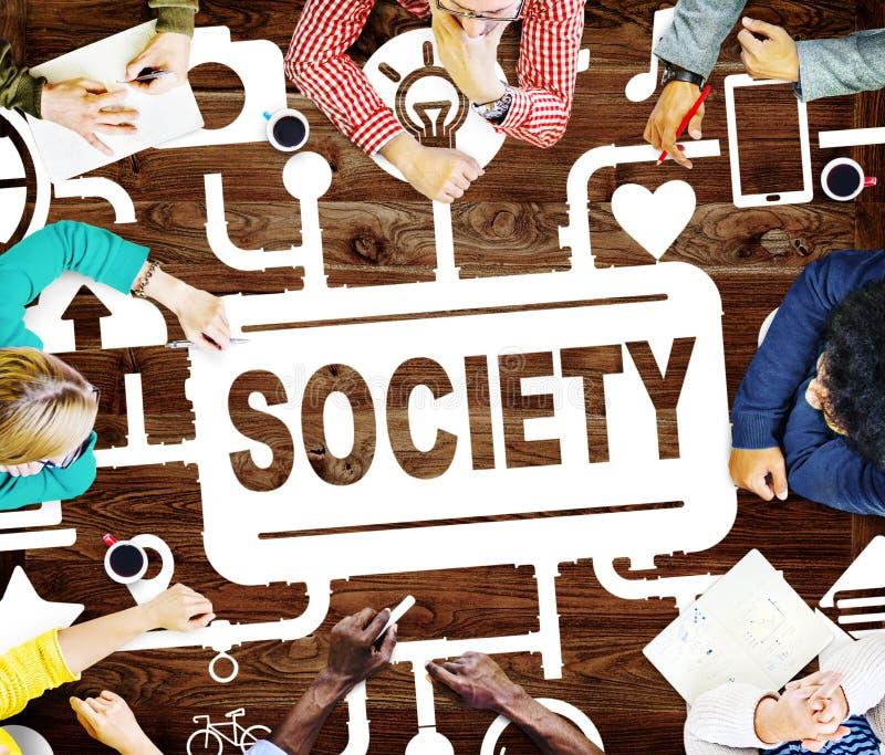 Internet de conexão Concep da unidade global da comunidade da sociedade imagens de stock royalty free