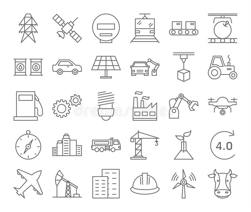 Internet de cosas ilustración del vector