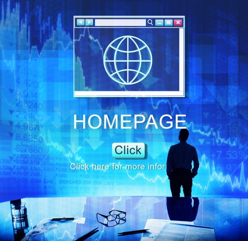 Internet-de Homepagebrowser van HTML Groot Gegevensconcept stock afbeelding