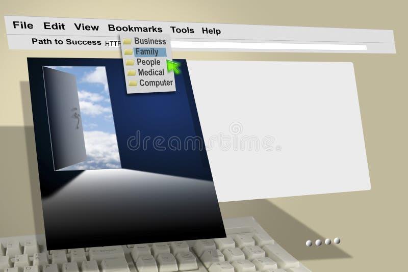 Internet de HTTP de Web de WWW illustration libre de droits