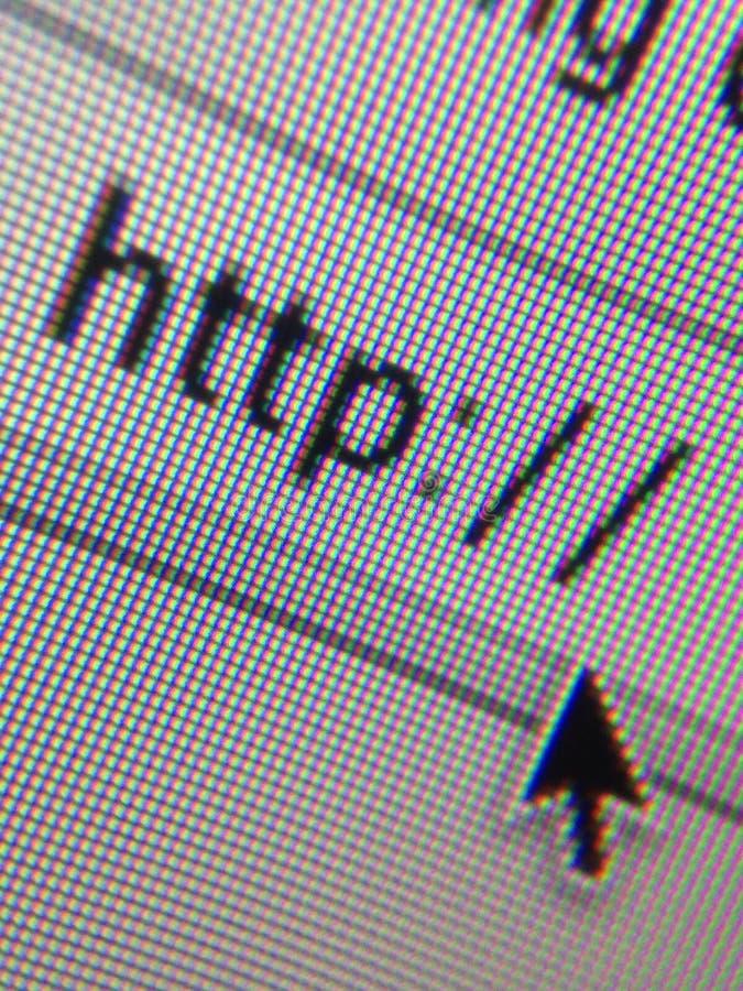 Internet de la dirección del HTTP del sitio web foto de archivo libre de regalías