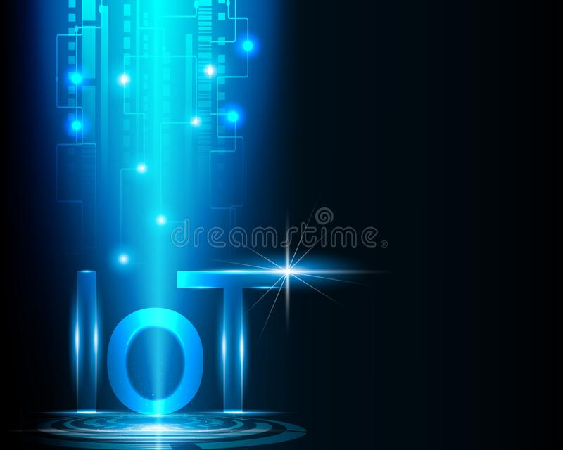 Internet de la technologie et de l'analyse réseau Co des choses IOT de données illustration libre de droits