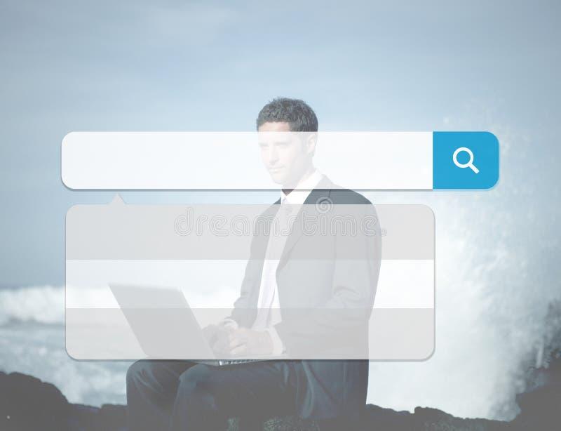 Internet de la tecnología del cuadro de búsqueda hojea concepto en línea de la ojeada fotos de archivo libres de regalías