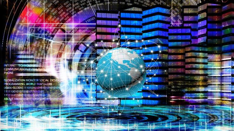 Internet De technologie van de globaliseringsverbinding stock foto's