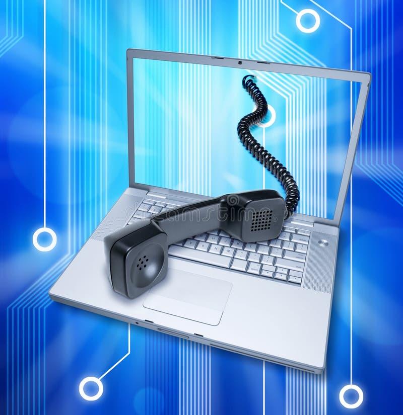 Internet de uma comunicação do telefone