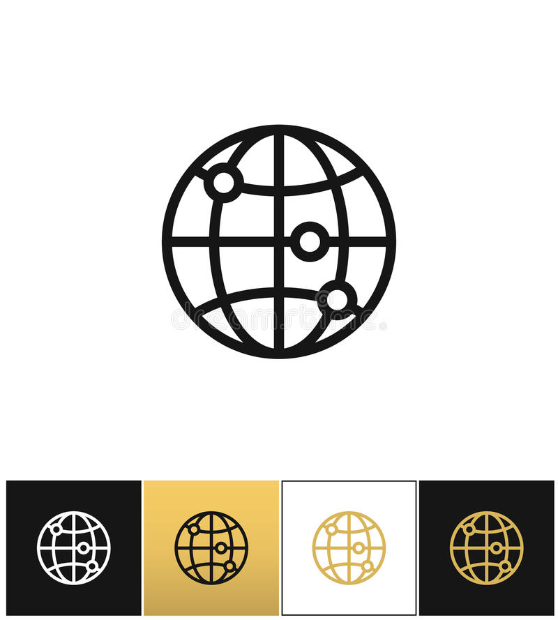 Internet-de wereld vectorpictogram van de bolaarde royalty-vrije illustratie